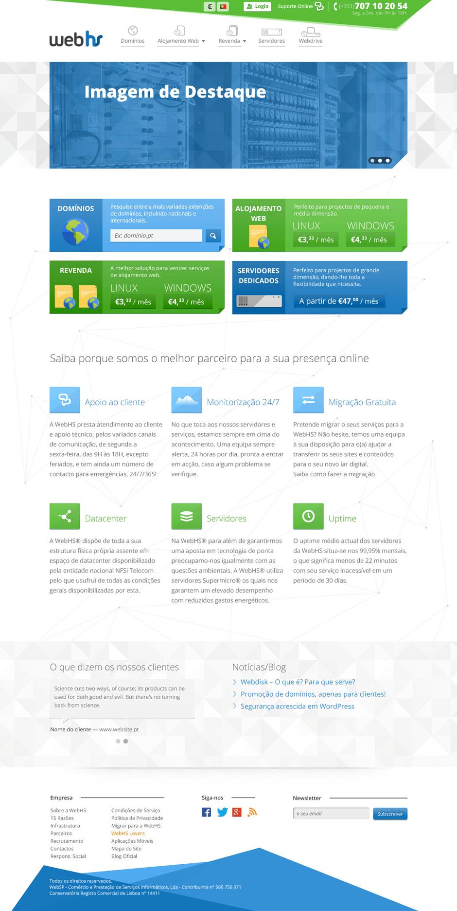 WebHS homepage